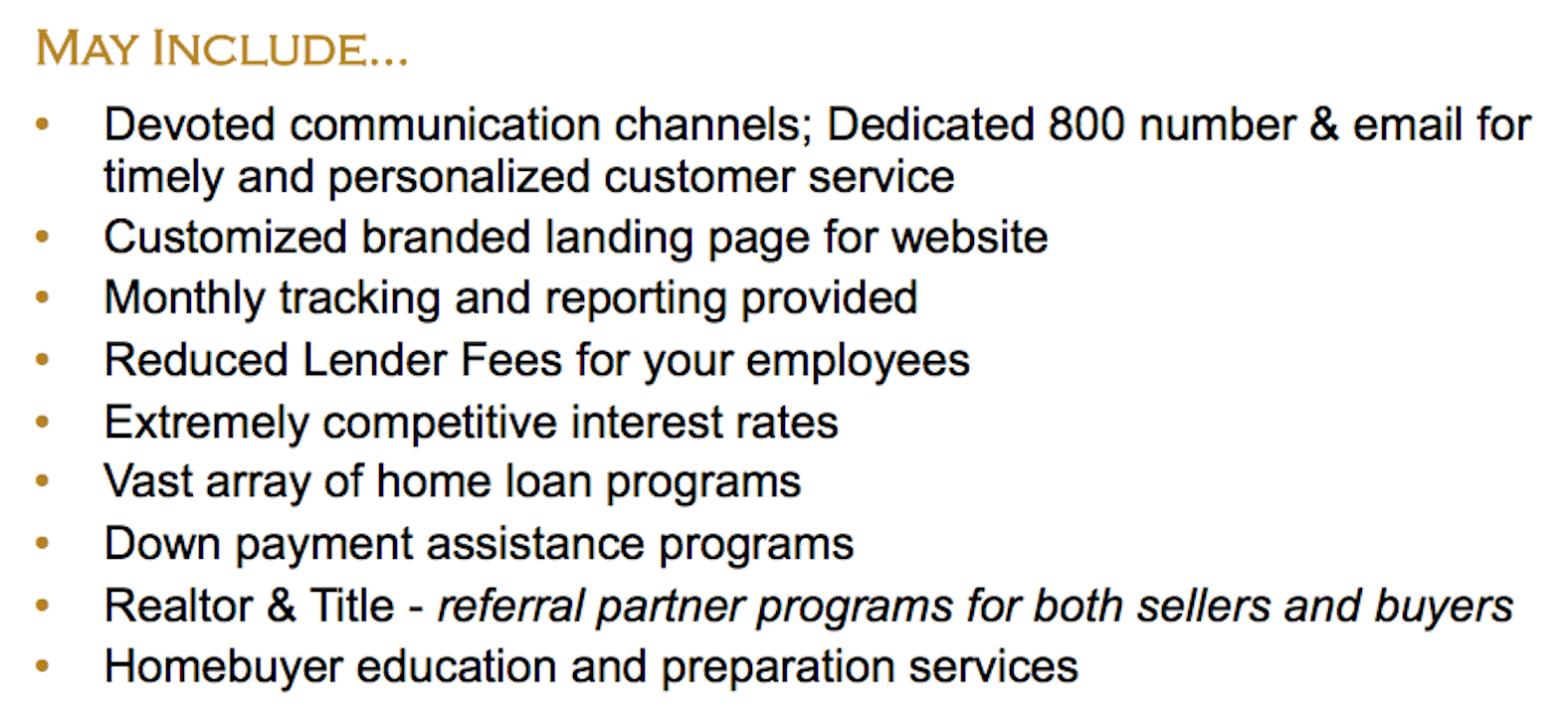 Land Home Financial Service for Your Employees