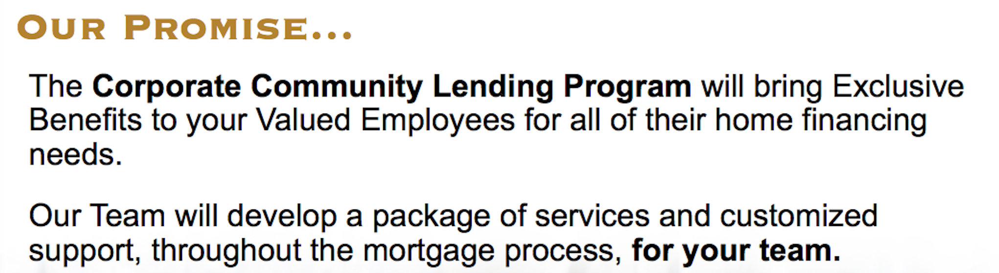 Land Home Financial's Promise to Serve Corporations